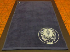 "New-Disc Golf Microfiber Towel 16"" x 26""-Navy Blue. 7"" Ace Your Face Print"