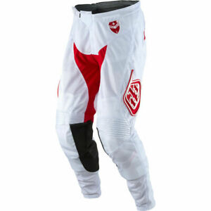 New LTD Troy Lee Desings Men's White / Red SE Air Max Motocross Pants Size: 36