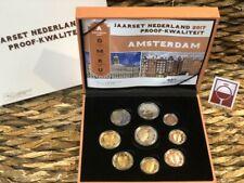 NEDERLAND 2017 - PROOF JAARSET EUROMUNTEN  - PROOFSET - PP - AMSTERDAM 9 COINS!!