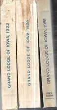1922 GRAND LODGE IOWA FREEMASONRY MASCONIC FIRST EDITIONS ILLUSTRATED FIRST ED.