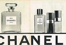 G- Publicité advertising 1968 (2 pages) Parfum Eau de Toilette Chanel N°5