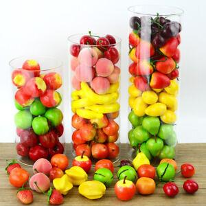 10Pcs Foam Artificial Fruits Simulation Mini Fake Fruit Pumpkin Cherry Decor uk