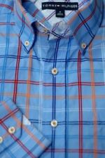 Tommy Hilfiger Women's Plaids & Checks 100% Cotton Casual Shirts for Men