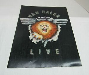 Van Halen 1982 Live Hide Your Sheep Tour Concert Program Book