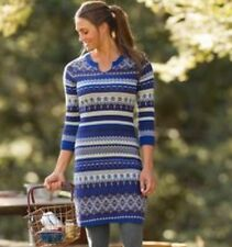 Athleta Fara Sweater Dress M EUC Blue Gray Fair Isle