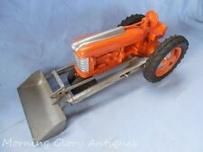 "1960s Large Hubley Tractor & Front Loader 13-1/2"" Long"
