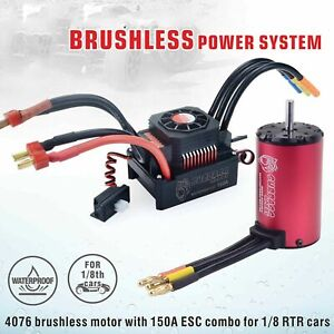 Waterproof 2000KV Brushless Motor + 6S 150A ESC Speed Controller for 1:8 RC RTR