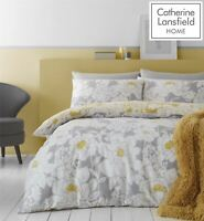 Catherine Lansfield Saskia Floral Easy Care Single Duvet Set Ochre