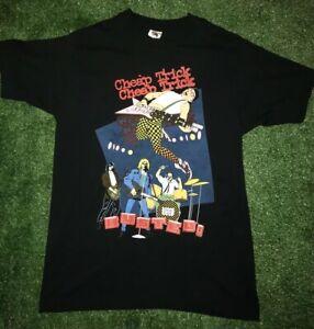 Vintage Cheap Trick 1990 Busted Tour USA Black Concert Rock Band TShirt Large