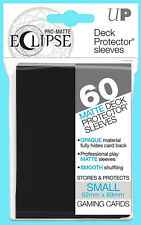 60 ULTRA PRO ECLIPSE BLACK SMALL Size PRO-MATTE DECK PROTECTOR Card Sleeves Mini