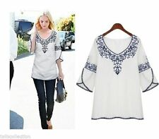Unbranded Chiffon 3/4 Sleeve Solid Tops for Women
