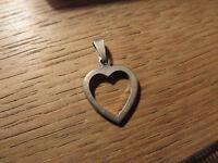 Schöner 925 Silber Anhänger Herz Liebe Love Beziehung Partnerschaft Modern