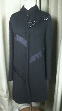 Edy Campagnoli Mohair Blend Black Evening Party Cocktail Cardigan Coat - 12-14