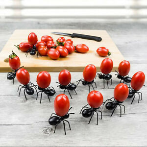 12PCS Reusable Ants Fruit Forks Sticks Cocktail Picks Party Service Supplies