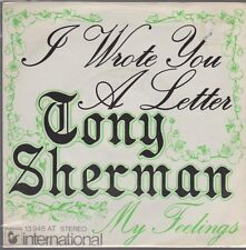 "7"" Tony Sherman I Wrote You A Letter 70`s Hansa Ariola 13 948 AT"