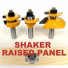 3pc Shaker Raised Panel w/Back Cutter & Shaker R&S Router Bit Set S