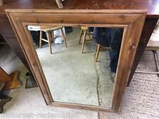 "Old Reclaimed Large Pine Frame With An Even Older Mirror 43"" X 31"""