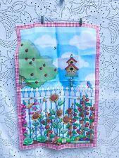 Mary Englebreit Flag 24� x 38� Me Ink Garden Sunflower Birdhouse Gingham