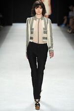 JILL STUART Lina Linen Embroidered Blazer Jacket Seen On Runway Size 6 NWT $710
