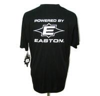 New EASTON Men's (Size Medium) Black Short Sleeve Baseball T-Shirt Athletic Tee