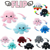 Reversible Flip Octopus Stuffed Plush Toy Soft Animal Home Accessories Baby Gift