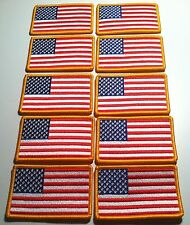 10 UNITED STATES Flag Patch with VELCRO® brand fastener Military  GOLD Emblem #9