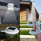 NEW 3 LED Solar Powered Fence Gutter Outdoor Garden Yard Wall Pathway Lamp Light