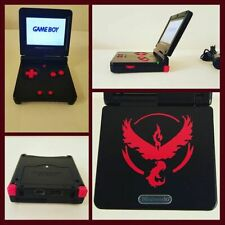NINTENDO GAMEBOY ADVANCE SP GBA SP SYSTEM AGS 101 TEAM VALOR PokemonGo Moltres