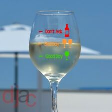 DECALS STICKERS for WINE GLASS GOOD DAY BAD DAY GREEN AMBER RED