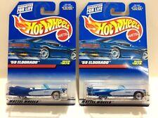 1998 Hot Wheels '59 Eldorado with Wire Wheels Blue Card Collector #1076 MOC