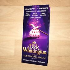 Dick Whittington At The London Palladium Flyer Elaine Paige & Ashley Banjo 2017