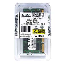 512MB SODIMM Toshiba Satellite 1800-A430 1800-A431 1800-S245 1900 Ram Memory