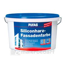 PUFAS Siliconharz-Fassadenfarbe 10L - schlagregendicht Abperleffekt atmungsaktiv