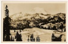 RPPC Postcard WA Mountain from Tipsoo Lake, Rainier National Park, Washington