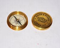 Antique vintage brass compass maritime marine poem compass desktop good gift