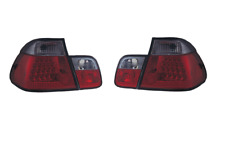 To Fit BMW 3 Series E46 4 Door Saloon RED & Clear Smoked LED Rear Lights 1 Pair