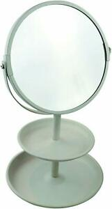 Butlers Vanity Mirror / Tray White