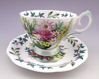 Vintage Royal Academy Queen Anne England Signed Teacup And Saucer
