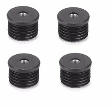 Round Threaded Tube Inserts - M6 Thread (Set of 4 Inserts)