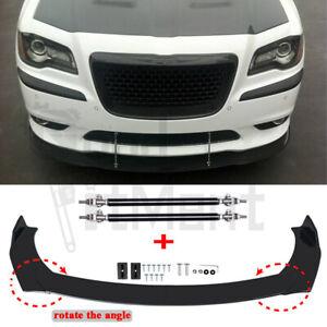 For Chrysler 300 SRT8 C S 2012-2014 Front Bumper Lip Splitter Spoiler+Strut Rods