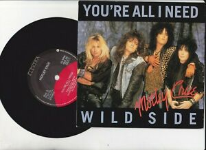 "Mötley Crüe -You're All I Need / Wild Side  ELEKTRA EKR 65 7"" Vinyl 45 1987"