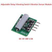 Adjustable delay vibrating switch vibration sensor module alarm DC 3V-18V 1BLUS