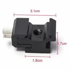 Bracket Accessories Seat Hot Shoe Cold Shoe Flash Mount 1/4 Hexagonal Screw
