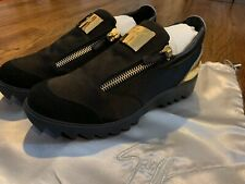 Giuseppe Zanotti Black Zipped Suede Toky Slip On Low Sneakers Size 39-9US SALE!!