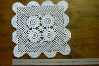 CROCHET Square CENTRE Fine Cotton IVORY 4 x 6cm Motives Approx 27x27cm LF80/81