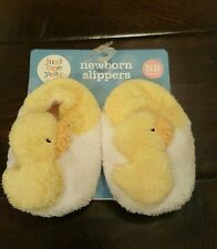 CARTER'S Just One Year Newborn SLIPPERS Little Duck House Shoes  **Brand New**