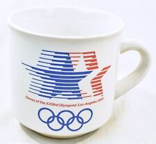 1984 Los Angeles Olympic Coffee Cup Mug Papel Stars New never used