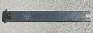 """THE L. S. STARRETT No.604R-6  6"""" Hook Spring-Tempered Steel Rule With 4R Grad."""