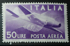 1955 Repubblica Italiana Democratica Posta Aerea  50 Lire ruota  singolo  MNH**
