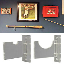 Wall Mount Horizontal Baseball Bat / Acrylic Holder / Bat Brackets display stand